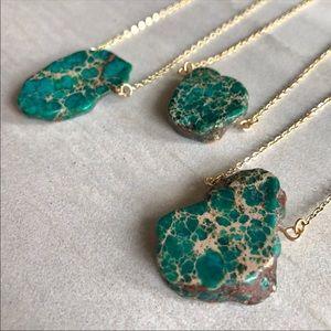 Jewelry - Raw Jasper Sea Sediment-various length chains
